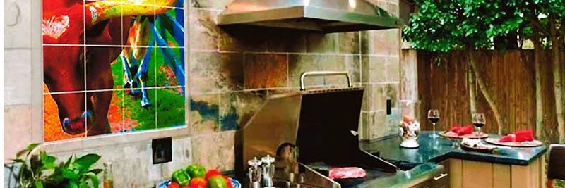 УФ печать на кухонной плитке